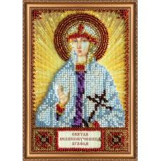 Набір для вишивання бісером на натуральному художньому холсті Свята Агафія