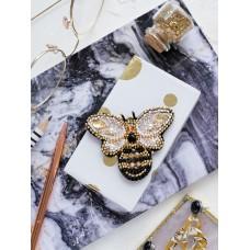"""Набір для вишивання бісером прикраси на натуральному художньому холсті """"Золота бджілка"""""""