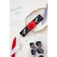 """Набір для вишивання бісером прикраса-браслет на натуральному художньому холсті """"Пухнаста казка"""""""