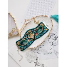 """Набір для вишивання бісером прикраса-браслет на натуральному художньому холсті """"Вірідіан"""""""