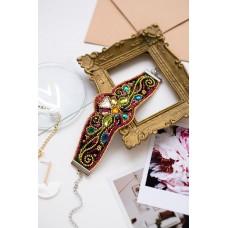 """Набір для вишивання бісером прикраса-браслет на натуральному художньому холсті """"Золотий візерунок"""""""