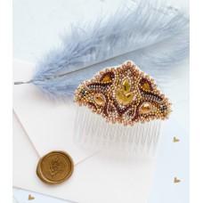 """Набір для вишивання бісером прикраси для волосся на натуральному художньому холсті """"Скандинавський мотив"""""""