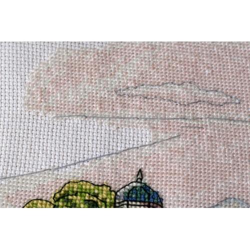 """Набір для вишивання хрестиком """"Барвисті купола"""""""