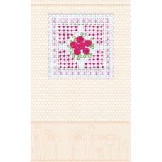 """Набір-листівка для вишивання хрестиком """"Рожева ніжність"""""""