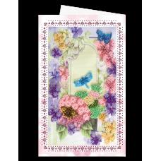 """Набір для вишивки бісером """"Листівка-конверт"""" Бабка і метелики"""