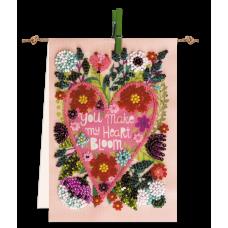 """Набір-прапорець для вишивання бісером на натуральному художньому холсті """"Квітуче серце"""""""