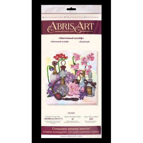 """Набір для вишивання бісером на натуральному художньому холсті """"Квітковий шлейф"""""""